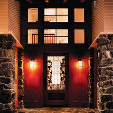 Rustic Entry by Sutton Suzuki Architects