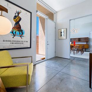 Ispirazione per un ingresso moderno con una porta singola