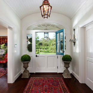 Photo of a traditional foyer in Santa Barbara with a stable front door.