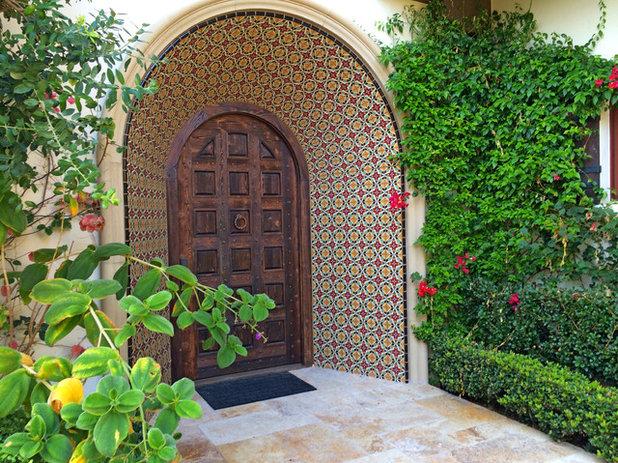 Mediterranean Entry by AMS Landscape Design Studios, Inc.