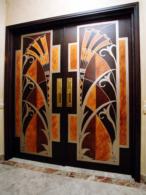 Modern art deco interior home design ideas pictures for Art deco interior doors home