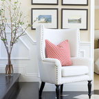 Pine Library - Transitional - Living Room - New York - by Cory Connor Designs