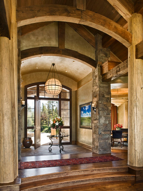Foyer Architecture Quiz : Rustic foyer houzz