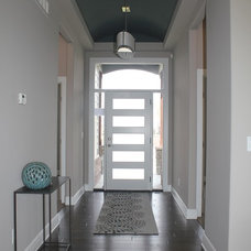 Transitional Entry by Megan McGraw Interior Design