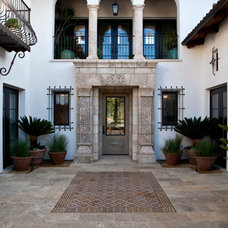 Mediterranean Entry by Neolithic Design Stone and Tile
