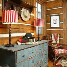 Rustic Entry by Elizabeth Robb Interiors