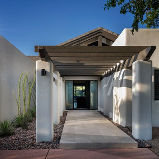 Inspiration for a mid-sized contemporary front door remodel in Phoenix