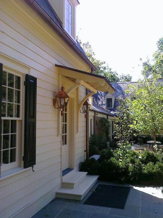 Wooden Craftsman Door Awning Houzz