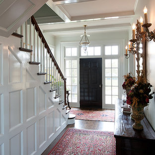 Article About Black Interior Doors Darlalwatts Read More Example Of A Mid Sized Clic Dark Wood Floor Entryway Design In Dallas With