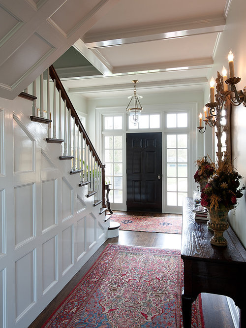 Traditional interior doors houzz example of a mid sized classic dark wood floor entryway design in dallas with a planetlyrics Gallery