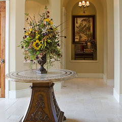 mediterranean entry by Cherie Myrick Interiors