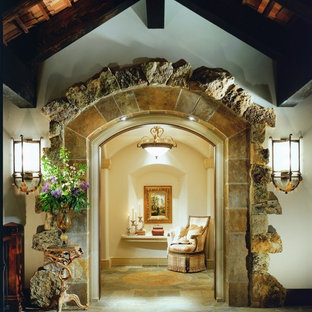 Mountain style foyer photo in Denver