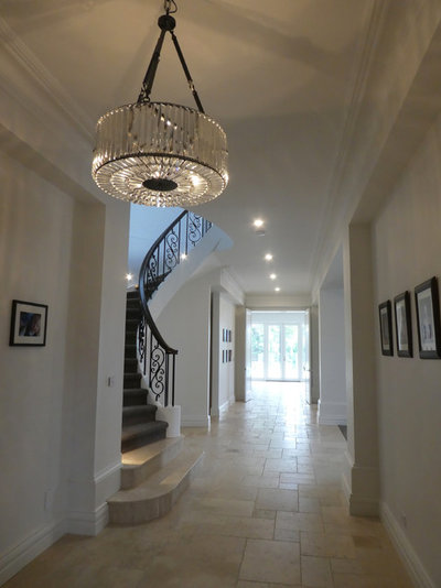 Transitional Entry by Style Precinct Interior Design & Decoration