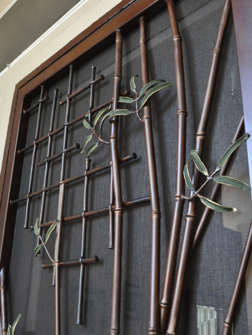 Decorative screen doors houzz for Decorative screen doors