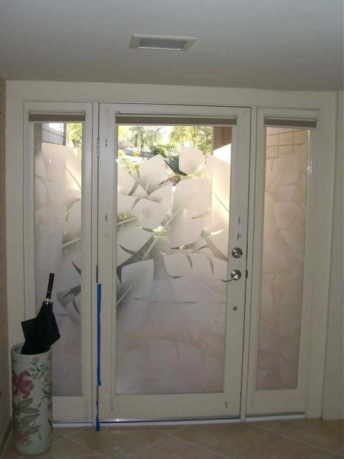 sandblasted glass door houzz 1000 ideas about gray stained cabinets on pinterest