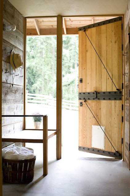 Farmhouse Entry by SHED Architecture & Design