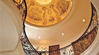 Baroque dome. Designed, hand painted and gilded by Simes Studios, Inc.