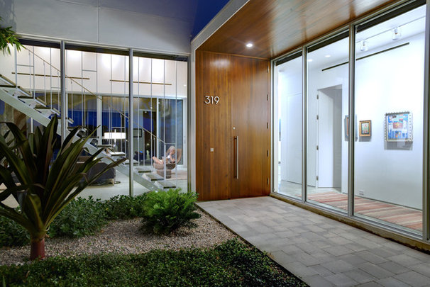 Modern Entry by Sanders Pace Architecture