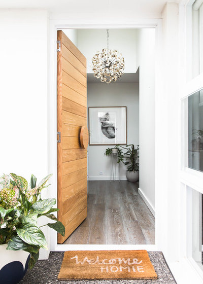 Scandinavian Entrance by Bask Interiors