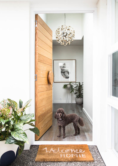 Contemporary Entrance by Bask Interiors