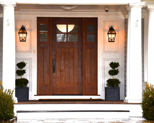 Front Entrance Topiary | Houzz