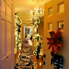 Traditional Entry BeColorful Foyer at Christmas