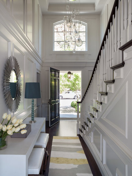 Transitional Entry by Green Couch Interior Design