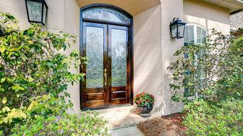 Beveled Glass Transom & Doors