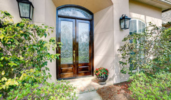 Beveled Glass Transom & Doors