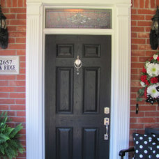 Traditional Entry Beveled transom