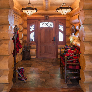 Big Moose, New York Log Home