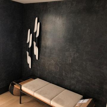 Black venetian plaster