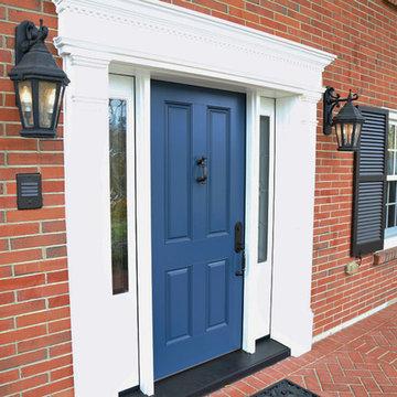 Blue Provia Entry Door