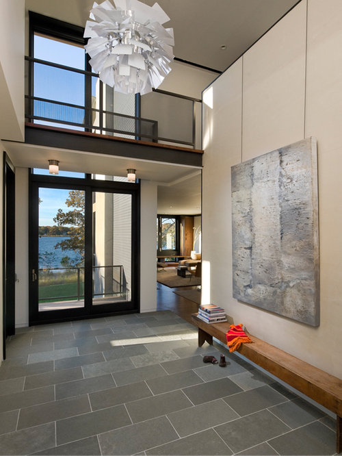 Large Tile Foyer : Modern entryway design ideas remodel pictures houzz