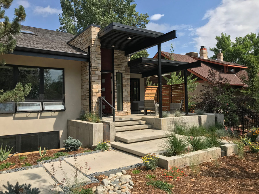 Boulder front porch and faced upgrade