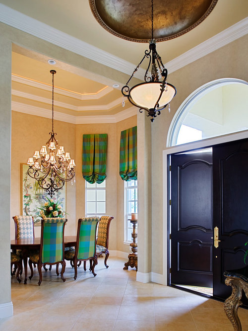 Foyer Tray Ceiling : Tray ceiling entryway design ideas remodels photos