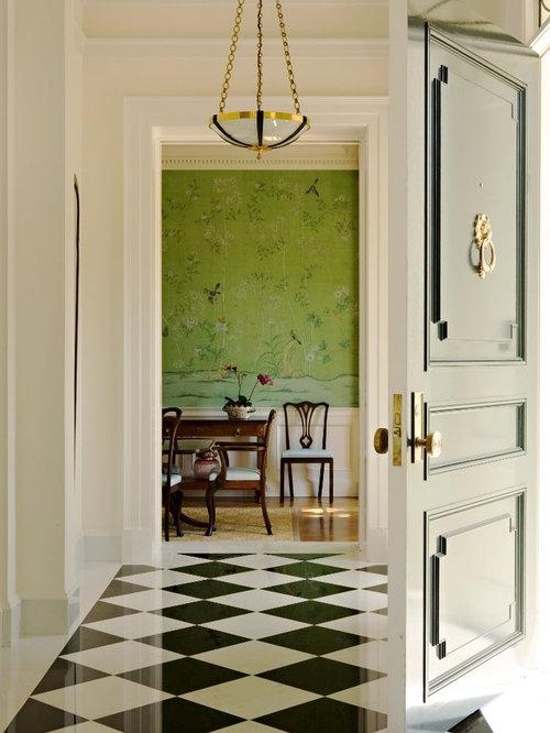 entr e de luxe avec un sol en marbre photos et id es d co d 39 entr es de maison ou d 39 appartement. Black Bedroom Furniture Sets. Home Design Ideas