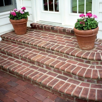 Brick Molded Steps Entryway