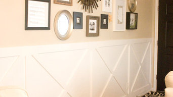 Bright Entryway with X Detail