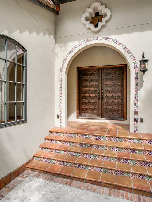 Mediterranean Front Door Color | Houzz