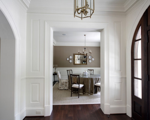 Ashley gray benjamin moore houzz - Decoration couloir entree maison ...