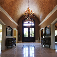 Mediterranean Entry by Curtiss W. Byrne Architect, LLC