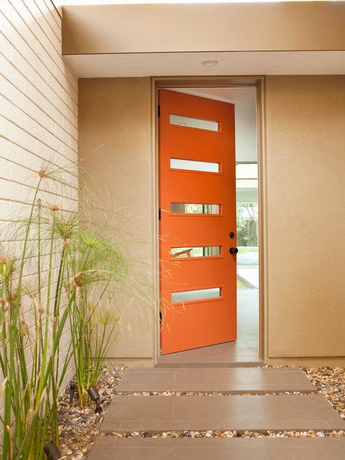 Mid century front doors home design ideas pictures - Mid century front door ...