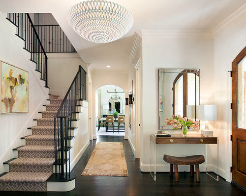 Foyer Stairs Reviews : Transitional planter boxes entryway design ideas