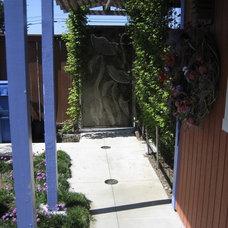Eclectic Entry by Jeffrey Gordon Smith Landscape Architecture