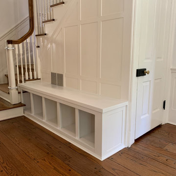 Built-in Maple hall tree