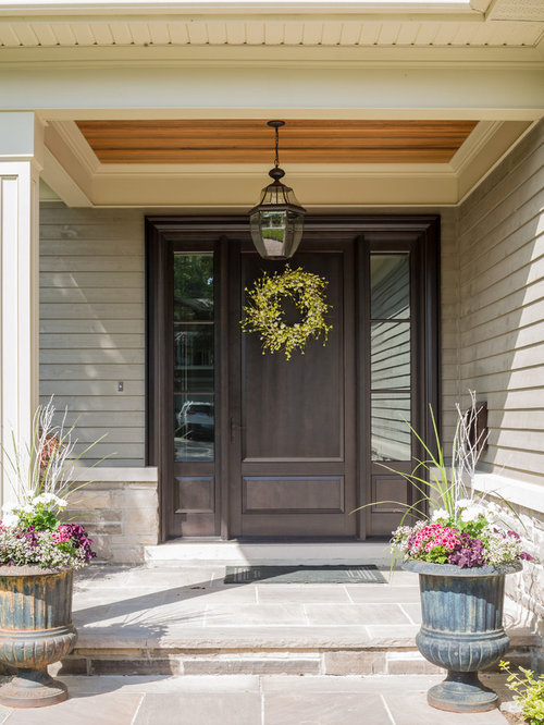 Bungaloft Home Design Ideas  Pictures  Remodel and DecorExample of a mid sized classic front door design in Toronto   a single front