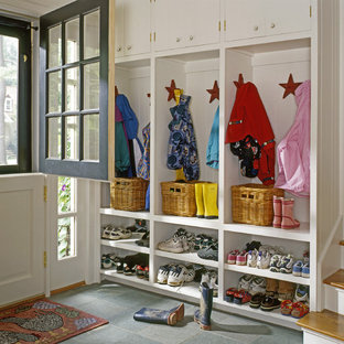 Inspiration for a timeless entryway remodel in Portland Maine