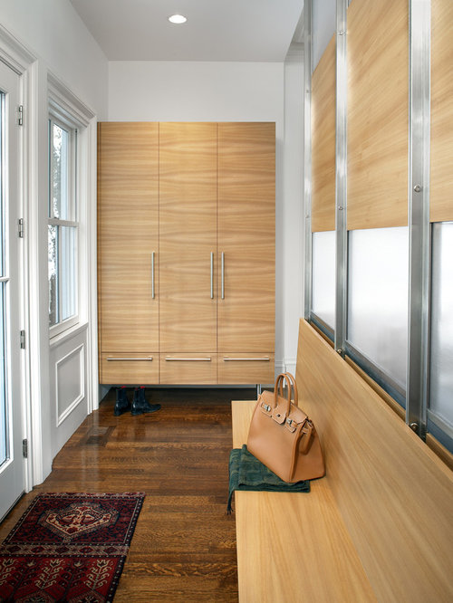 Marvelous Example Of A Trendy Mudroom Design In Boston