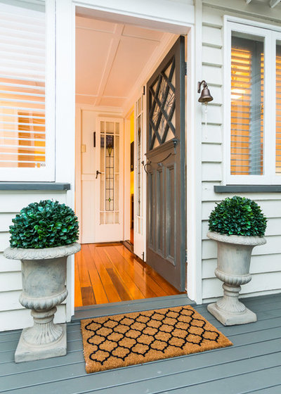 Traditional Entrance by Cape Cod Residential